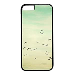 """Be Free Bird Theme Case for iPhone 6 Plus (5.5"""") PC Material Black"""