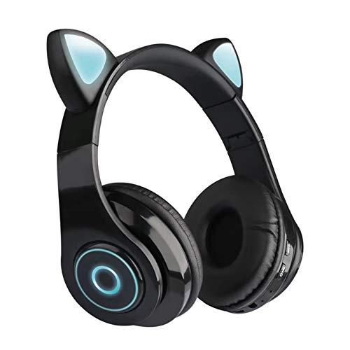 Kattenoortelefoon, Bluetooth koptelefoon Draadloos met LED verlichting, Gaming headset voor iPhone, iPad, smartphones…