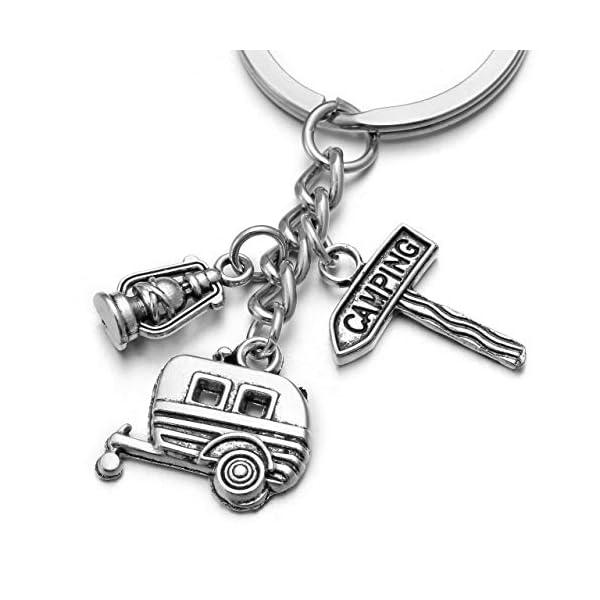 41lt9rOoAuL JOVIVI Wohnwagen Camping Leuchte Reise Schlüsselanhänger Legierung Schlüsselring Keychain Tourist Geschenk