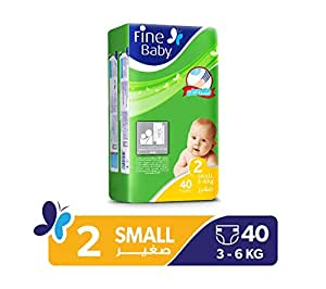 Fine Baby Diapers Mother's Touch Lotion, Small 3-6 Kgs, Economy Pack, 40 Count