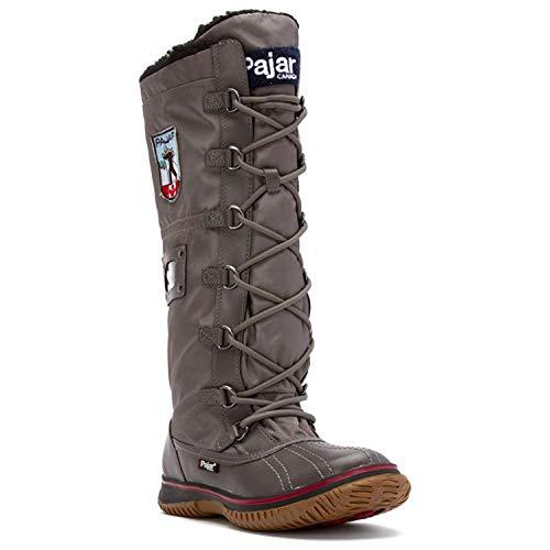 Zip Maple Boot - Pajar Canada Women's Grip Zip Charcoal Boot 39 M