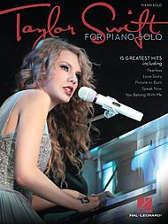 Hal Leonard Taylor Swift For Piano Solo (Back To December Piano Sheet Music Easy)