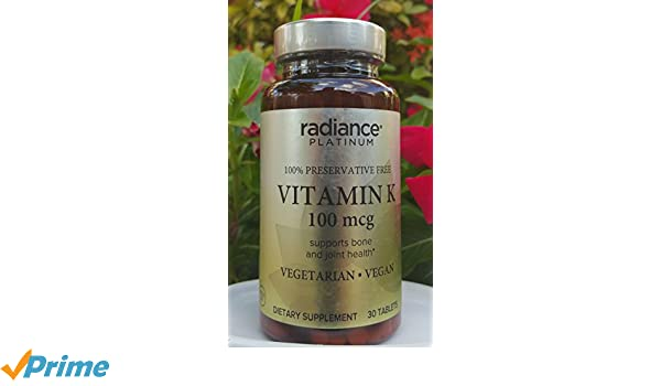 Amazon.com: Vegan Vitamin K by Radiance Platinum (100mcg Preservative Free): Health & Personal Care
