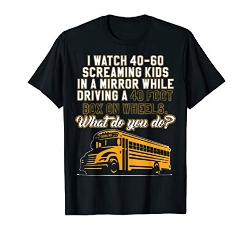 School Bus Driver T-Shirt For School Bus Drivers