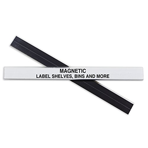 - C-Line HOL-DEX Magnetic Shelf/Bin Label Holders, 1/2 Inch x 6 Inches, 10 per Box (87207)