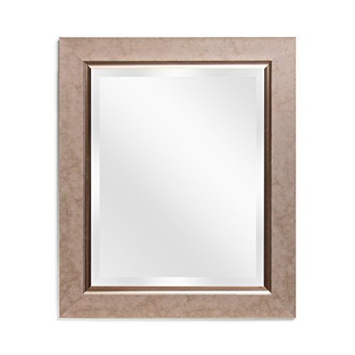 Wall Mirror Decorative Bathroom - Vanity Copper Bronze Rectangular Beveled Frame - Frames Mirror Copper
