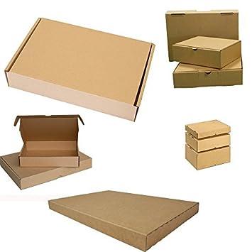 Selección Maxibrief Cartón Post Envío paquetes envío Cajas de Cartón Plegable Post cartón 350x 250x 50mm, color marrón 25 Stück: Amazon.es: Electrónica