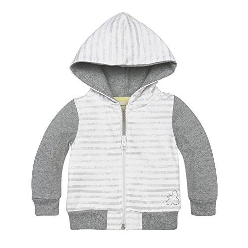 Burt's Bees Baby Organic Zip Front Hooded Jacket, Heather Grey Heavy Jersey, (Organic Cotton Hooded Jacket)