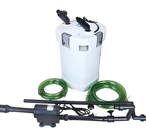 Canister Tank Filter (Turtle Terrarium Aquarium Canister Filter Pump Fish 4 Stage Filtration Low Water Level 9W UV 125 Gal 9