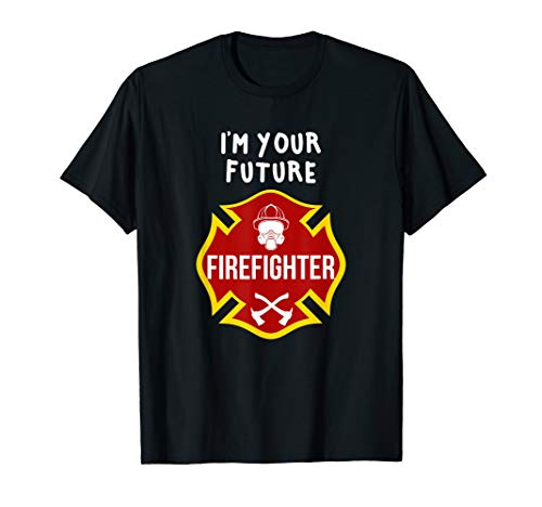 I'm Your Future Firefighter - Kids Red Fireman Badge -