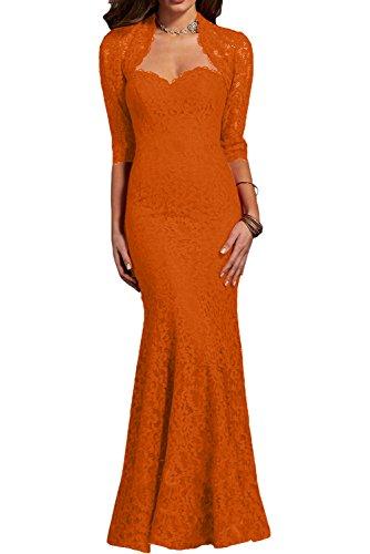 Partykleider Charmant Spitze Abendkleider Ballkleider Promkleider Orange Damen Dunkel Brautmutter Rot Fuer Chiffon SrY4Sx