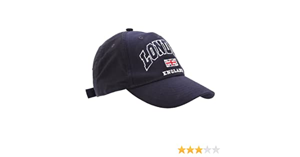 Mens London England Union Jack Baseball Cap (One Size) (Navy) at Amazon Mens Clothing store: