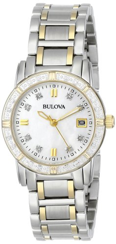 Bulova Women's 98R107 Diamond Accented Calendar Watch ()