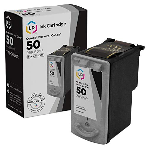 LD Remanufactured Ink Cartridge Replacement for Canon PG50 High Capacity (Pigment Black) (50 Black Remanufactured Ink)