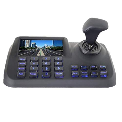 CTVISON PTZ Camera Controller Network Keyboard Joystick Keyboard 4D IP PTZ Controller with LCD Monitor Display Onvif Protocol Support Great for IP PTZ Camera(White) by CTVISON (Image #3)