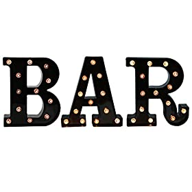 BAR – Illuminated Marquee Bar Sign – L...