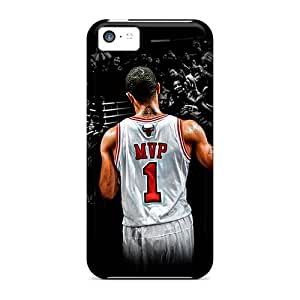 Scratch Protection Hard Phone Covers For Iphone 5c With Support Your Personal Customized High-definition Derrick Rose Image SherriFakhry
