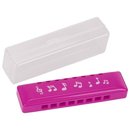 Jouetprive-Harmonica de 10,5 cm à 10 tons en plastique rose