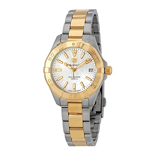 - Tag Heuer Aquaracer Mother of Pearl Dial Ladies Two Tone Watch WBD1320.BB0320