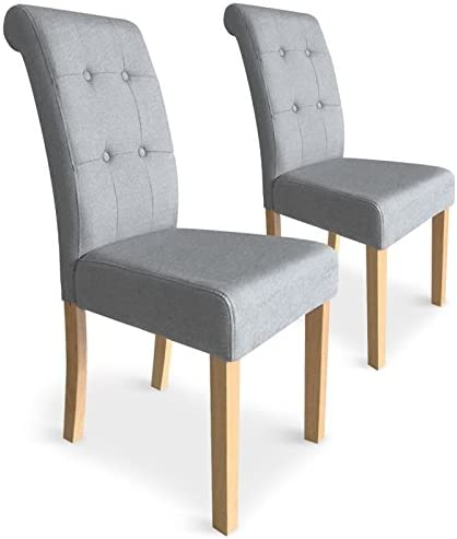 Paris Prix Lot De 2 Chaises Design Oliver 99cm Gris