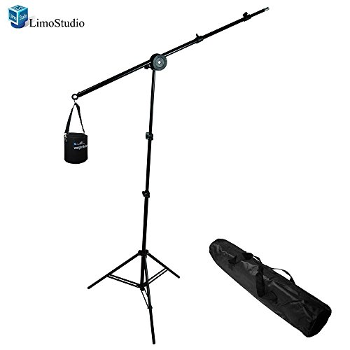 LimoStudio Photo Video Studio Overhead Hair Boom Light Stand, 86'' Tall and 74.5'' Extended, AGG809 by LimoStudio