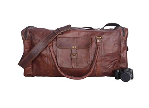 Cheap Vintage Leather Bazaar Duffle Bag Leather Gym Bag Leather Travel Bag Leather Luggage Leather Weekender Bag 20 Inch