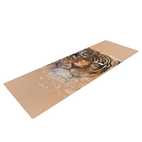 Kess InHouse Geordanna Cordero-Fields My Tiger Yoga Exercise Mat, Orange/Tan, 72 x 24-inch by Kess InHouse