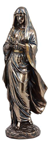 Ebros Gift Greek Olympian Goddess Hestia Igniting Fire Wearing Veil Statue Deity of Family Hearth and Home Decorative Figurine Roman Greco Ancient Civilization -