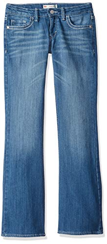 Levi's Girls' 715 Bootcut Thick Stitch Jeans,Blue Rapids, 6