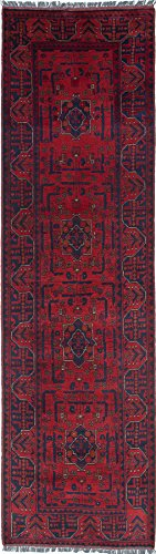 Ecarpetgallery Hand-Knotted Finest Khal Mohammadi Red 2' x 9' 100% Wool Traditional Runner from eCarpet Gallery