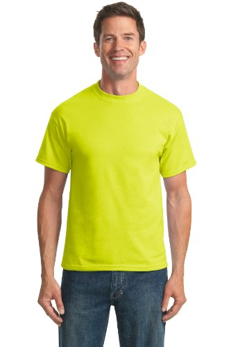 Port & Company Men's Tall 50/50 Cotton/Poly T Shirts 2XLT Safety Green ()