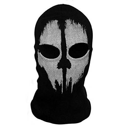 SODIAL Round neck mask Hood Ghost Skull -Call Of Duty Modern Warfare - Airsoft Paintball motorcycle Outdoor color # 2