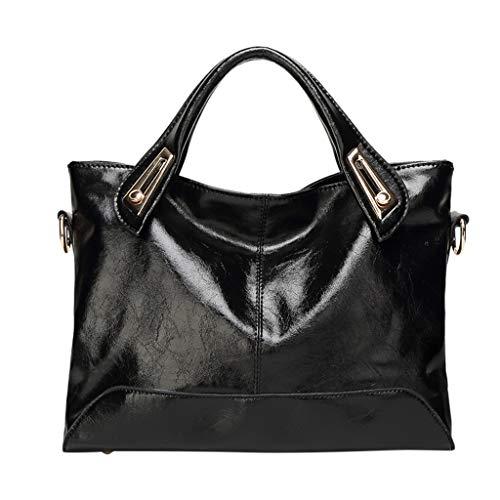 LUXISDE Fashion Ladies Large-Capacity Oil Wax Leather Handbag Shoulder Messenger Bag ()
