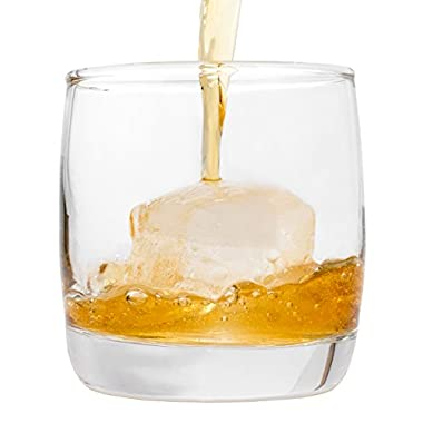 5 O'Clock Rocks Scotch Whiskey Glasses with Heavy Base and Curved Sides - Amazing Addition to Your Barware Collection - Free Mixologist Drink Recipe Book - Set of 2 Old Fashioned Rocks Glasses