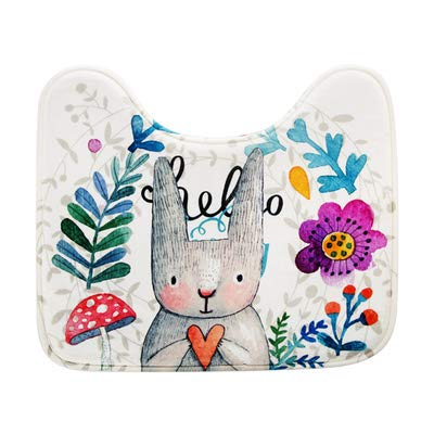 GYSDVHO Cartoon Suede Toilet Cover Sets Toilet Mats, European Toilet Seat Pad Thickening Flower m by GYSDVHO (Image #1)
