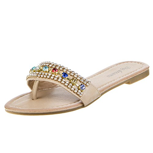 Ital-Design Damen Schuhe H165 Sandalen