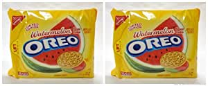 Nabisco Oreo Limited Edition Watermelon Flavored Golden Cookies- (2 Pack)