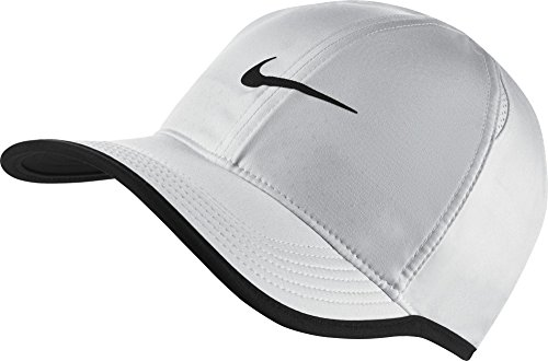 (NIKE Unisex AeroBill Featherlight Cap, White/Black/Black, One Size )