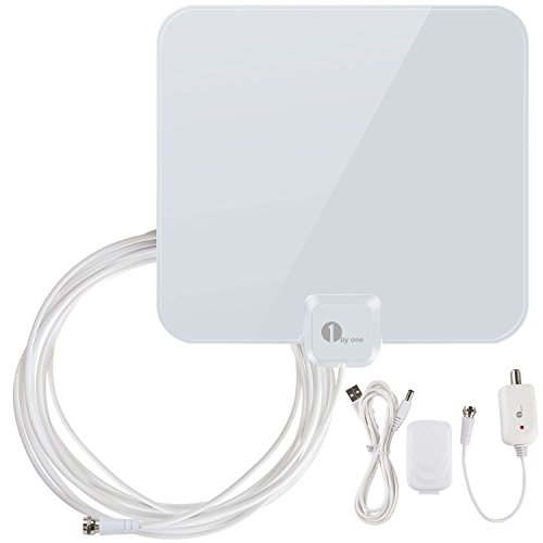 Buy Cheap 1byone 40 Miles Amplified HDTV Antenna with Detachable Amplifier Booster USB Power Supply ...