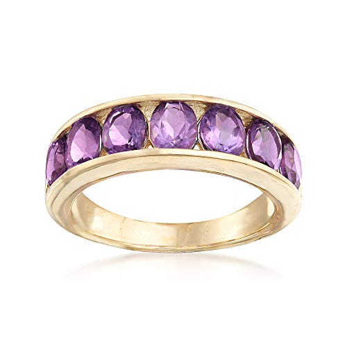 Ross-Simons 2.80 ct. t.w. Amethyst Eternity Band in 14kt Yellow Gold ()