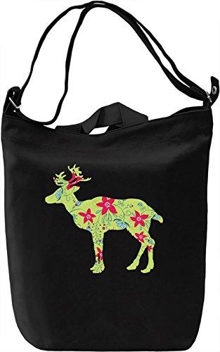 Festive deer Borsa Giornaliera Canvas Canvas Day Bag| 100% Premium Cotton Canvas| DTG Printing|