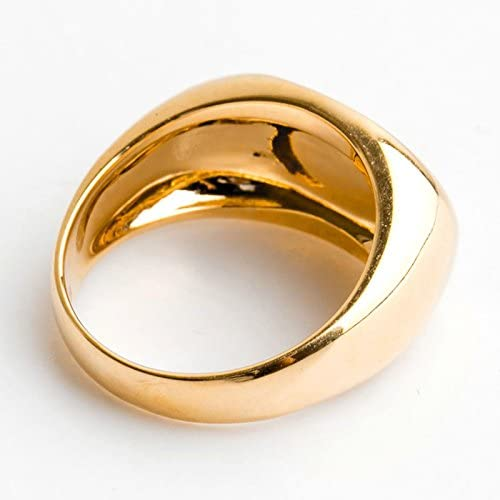 Bishilin Stainless Steel Two Tone Gold Plated Pyramid Rings For Unisex Size 10