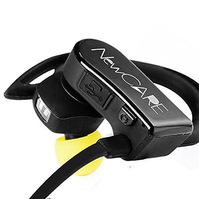 Pulse Earbuds Sweatproof Headphones Wireless Bluetooth Headphones Wireless Sport Earbuds with Built-In Heart Rate Monitor HIFI Headset Running Exercise
