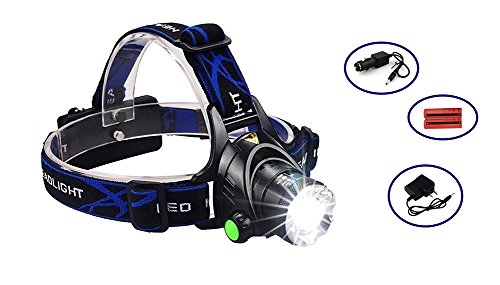 HeQiao LED Headlight 5000 Lumen Camping Headlamps Adjustable Strap Headlight Flashlight Rechargeable LED Work Light