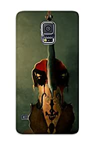 New Style Case Cover BVYRVI-3978-oNOxN Gothic Guitar Gothic Guitar Musical Instrument Compatible With Galaxy S5 Protection Case