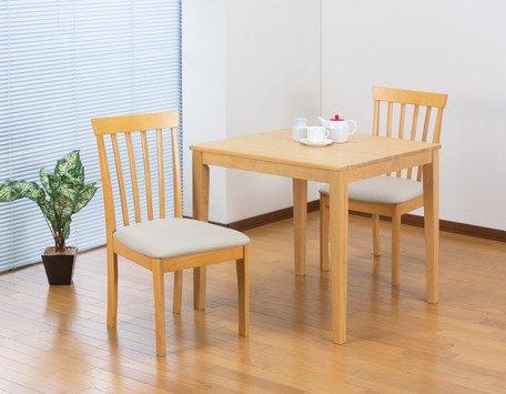 シンプル モダンダイニングセット ナチュラル (テーブル+チェア2脚セット) B01N2ATPKA