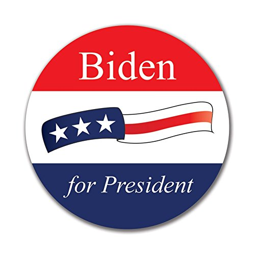 Election 2016 Joe Biden Waving Flag 4x4 Round Sticker