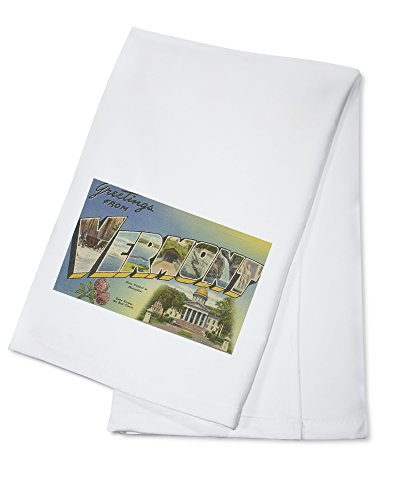 Greetings from Vermont (State Capital/Flower) (100% Cotton Kitchen Towel)