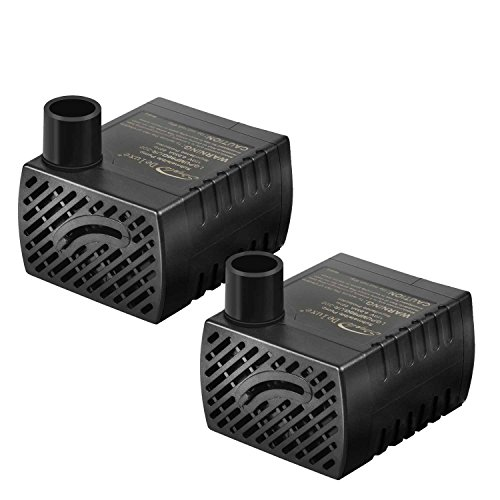 - Simple Deluxe 80GPH UL Listed Submersible Pump with 6' Cord, Water Pump for Fish Tank, Hydroponics, Aquaponics, Fountains, Ponds, Statuary, Aquariums, 2-pack
