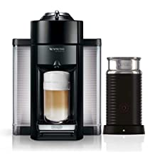 Nespresso Vertuo Coffee and Espresso Machine by DeLonghi with Aeroccino Milk Frother - Black (Renewed)